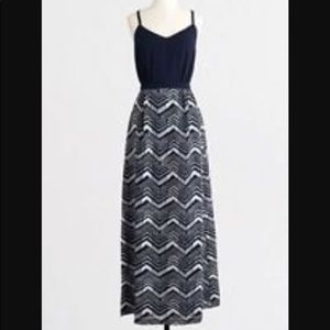 J crew blue maxi dress